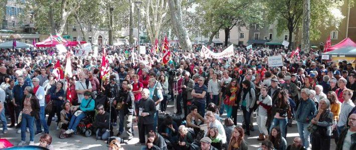 Grenoble, 12 septembre : une première journée de mobilisation commune réussie