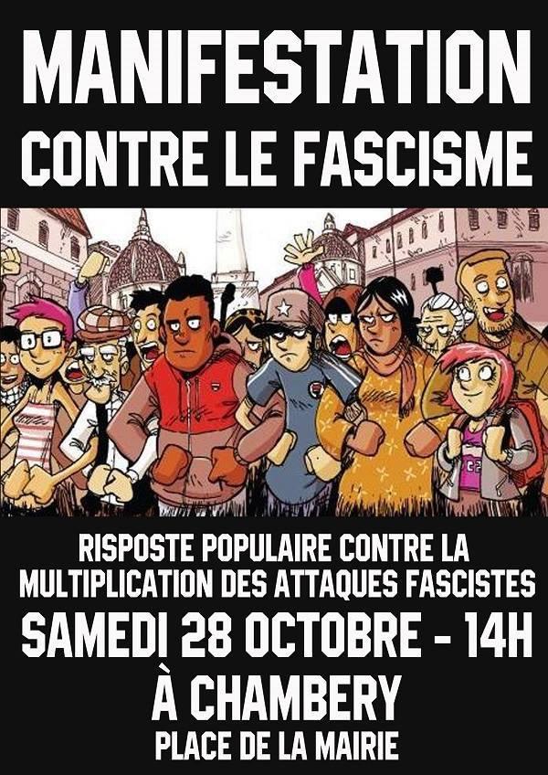 De Grenoble à Chambéry, riposte et solidarité antifasciste !