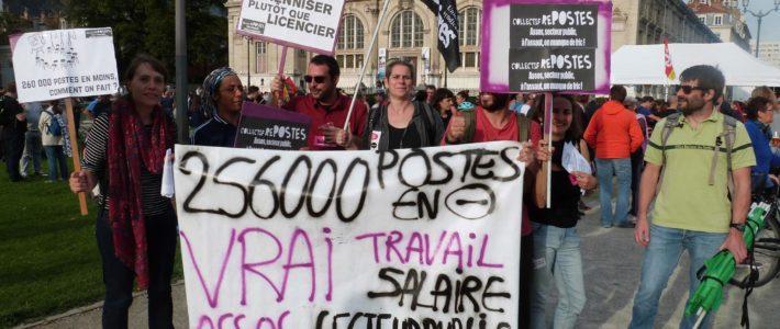 Contrats aidés : en grève et en manif le 10/11 à Grenoble !