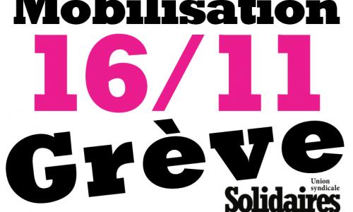 16/11 Grenoble en grève et en action, riposte XXL face à Macron