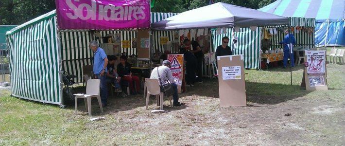 Solidaires Isère tient son stand au TA du 29 juin au 1er juillet !