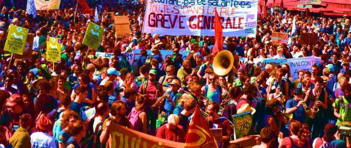 Grève et manifestation, contre la réforme des retraites