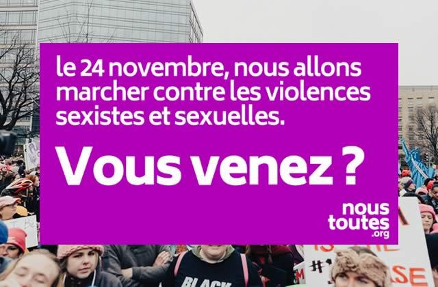 Marche contre les violences sexistes et sexuelles à Grenoble le 24/11