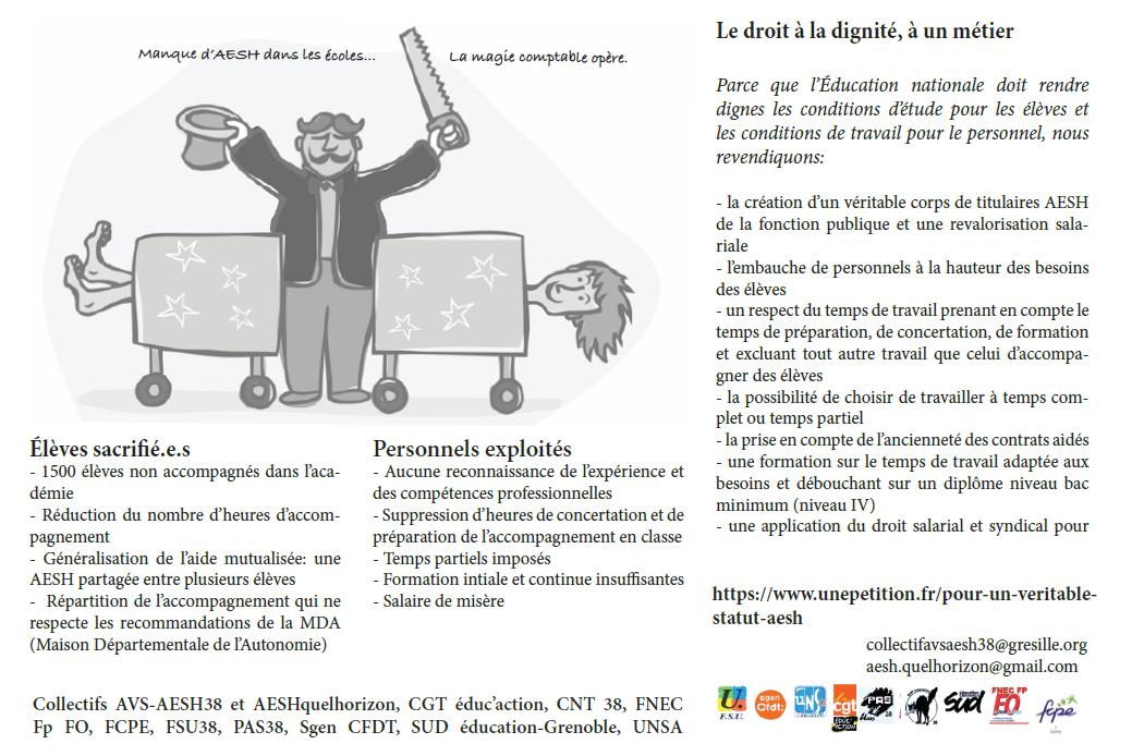 3 12 Journée Du Handicap Les Aesh En Grève Pour L école