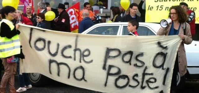 Grève de défense des bureaux de postes de Saint-Egrève, Voreppe et Saint-Martin le Vinoux le 26/01