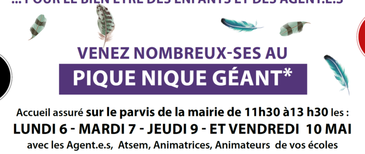 Grève dans les écoles de Grenoble : raisons de la lutte et invitation aux pique-niques revendicatifs ! (6 au 10 mai)