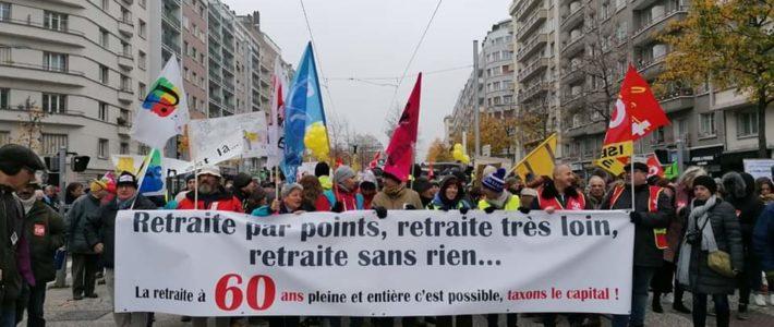 Mardi 10 et Jeudi 12 décembre: grève générale et manifestation commune pour nos retraites et la justice sociale !