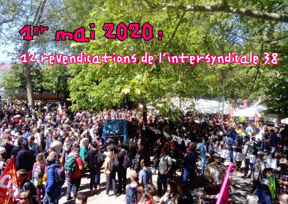 Intersyndicale Isère : 1er mai, pas de confinement pour les revendications ! 12 points pour avancer