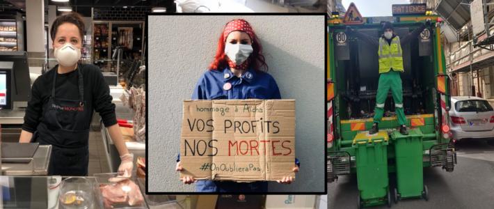 Intersyndicale Isère : Gestion gouvernementale de la pandémie Covid 19, nos vies valent mieux que leurs profits !