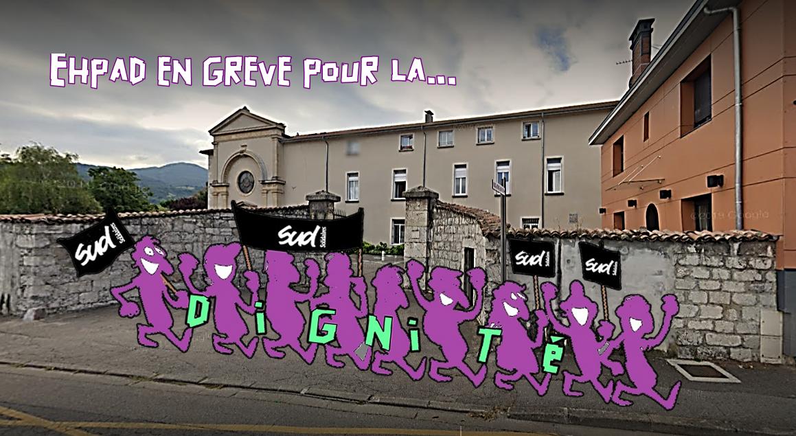 """EHPAD du Bon Pasteur à SMH : """"En grève pour la dignité, pas pour la charité !"""""""